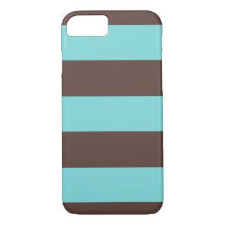 iPhone 7 Case Striped Blue & Brown