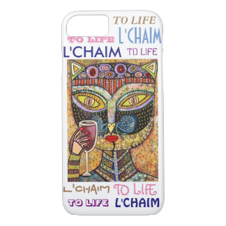 iPhone 7 case To Life L'Chaim Black Cat Cell