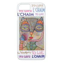iPhone 7 case To Life L'Chaim Pink Owl Cell