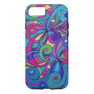 iPhone 7 Case Tough Floral Doodle Drawing