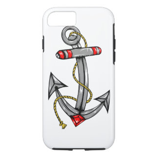 iPhone 7 Case Tough with Navy Anchor Tattoo