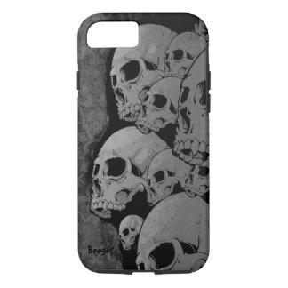 iPhone 7 case tough - Zombie Skulls