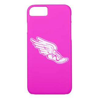 iPhone 7 case Track Logo White on Pink