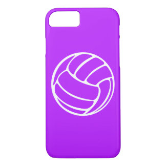 iPhone 7 case Volleyball White on Purple
