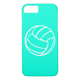 iPhone 7 case Volleyball White on Turquoise
