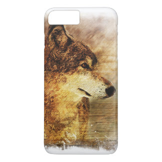 iPhone 7 Case with a Timber Wolf painting