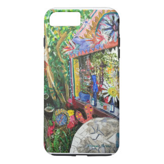 iPhone 7+ Case with Bowling Ball House Painting