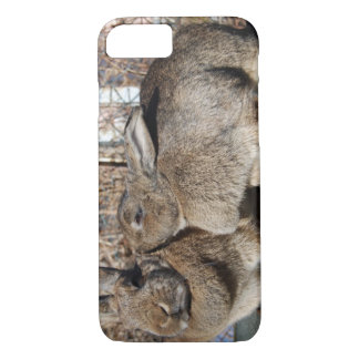 iPhone 7 case with bunnies smooching