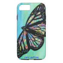iPhone 7 case with butterfly art by Jann Ellis Tho