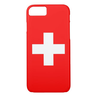iPhone 7 case with Flag of Switzerland