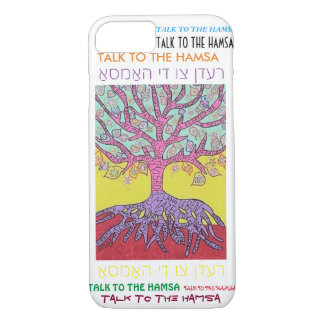 iPhone 7 case Yiddish Pink Tree of Life cell II