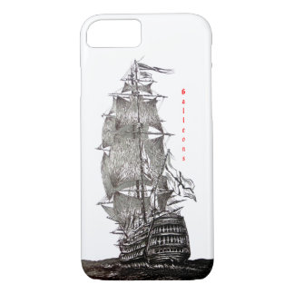 iPhone 7 cover with Sailboat Pen and Ink Drawing
