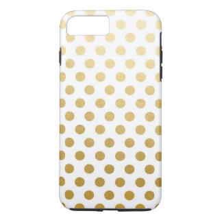 iPhone 7 de los lunares de la hoja de oro más, Funda iPhone 7 Plus