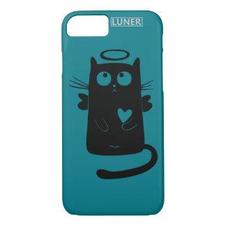 iPhone 7, diseño de Luner del negro del gato de Funda iPhone 7
