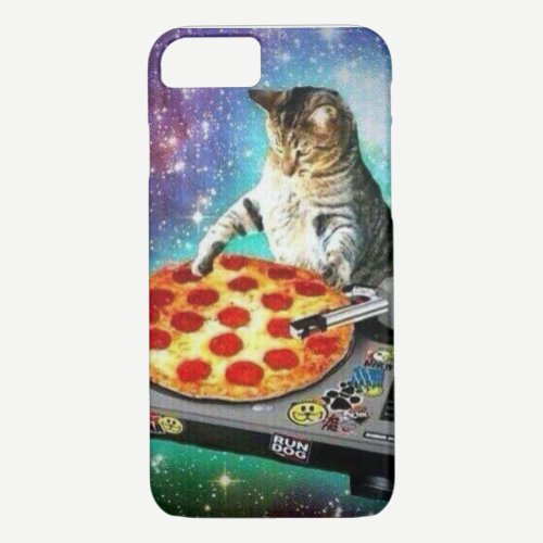 iPhone 7 DJ Pizza Cat Case