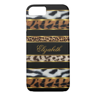 iPhone 7 Elegant Classy Mixed Animal Gold Black 3 iPhone 7 Case