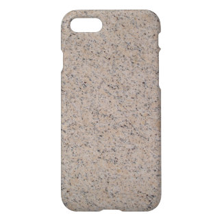 iPhone 7 Glossy Case With Tan Marbled Texture Bac