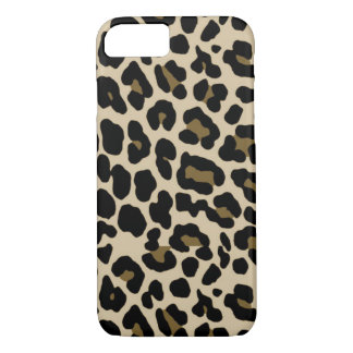 iPhone 7 Gold Cheetah Print Case