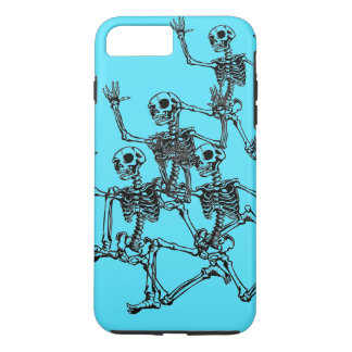 iPhone 7 -NIGHT TIME SPREE - RUNNING SKELETONS iPhone 8 Plus/7 Plus Case