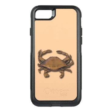 nautical_gifts iPhone 7 OtterBox Nautical Copper Crab on Cream