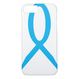 iPhone 7 Oversize Light Blue Awareness Ribbon iPhone 8/7 Case