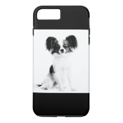 iPhone 7 - PAPILLON DOG DRAWING iPhone 8 Plus/7 Plus Case