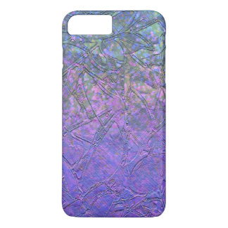iPhone 7 Plus Case Sparkley Grunge Floral Relief