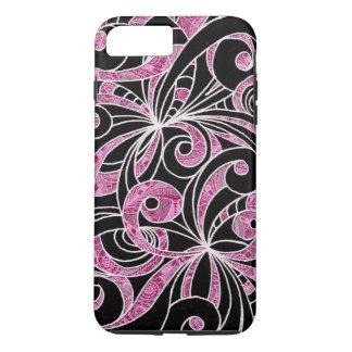 iPhone 7 Plus Case Tough Drawing Floral
