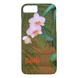 iPhone 7 Plus Case with Pink Orchids
