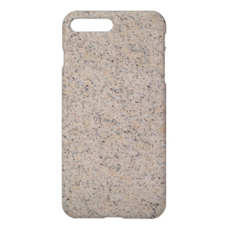 iPhone 7 Plus Gloss Case Tan Marbled Texture Back