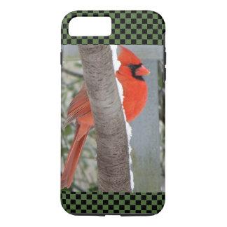 iPhone 7CASE BEAUTIFUL CARDINAL GREEN CHECK BKRD iPhone 8 Plus/7 Plus Case