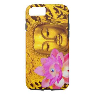 iPhone 7CASE - STUNNING GOLDEN BUDDHA & PINK LOTUS iPhone 7 Case