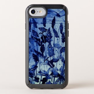 iPhone 8/7/6s Case with Blue Monoprint Design
