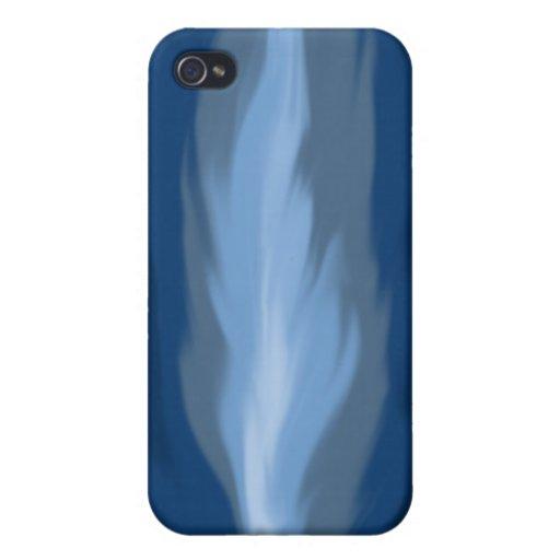 Iphone abstracto 4 de las llamas azules iPhone 4/4S funda