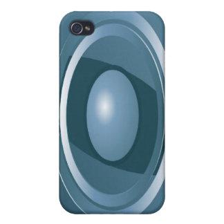 iPhone abstracto 4 del caso de Speck® del ojo azul iPhone 4 Fundas