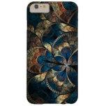 iPhone abstracto 6 Pluss de los azules del mosaico Funda Para iPhone 6 Plus Barely There