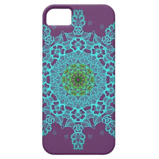 Iphone abstracto de la mandala del modelo 5 casos iPhone 5 Case-Mate coberturas