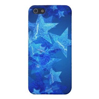 iPhone abstracto de las estrellas azules 3 4 casos iPhone 5 Fundas