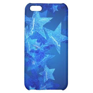 iPhone abstracto de las estrellas azules 3 4 casos