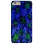 iPhone abstracto de mármol azul y verde 6 casos Funda De iPhone 6 Plus Barely There