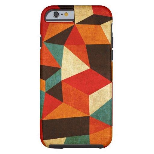 iphone abstracto del caso del vintage funda de iPhone 6 tough