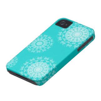 Iphone abstracto del estampado de flores del remol iPhone 4 Case-Mate cárcasas