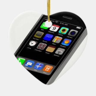IPhone Adorno Navideño De Cerámica En Forma De Corazón