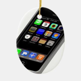 IPhone Adorno Navideño Ovalado De Cerámica