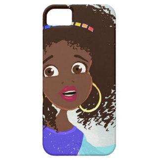 iPhone africano del retrato del chica 5 casos iPhone 5 Funda