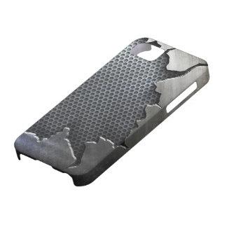 iPhone agrietado 5 del metal, iPhone 5 Carcasa