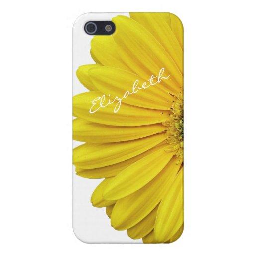 iPhone amarillo 5 de la flor de la margarita de Ge iPhone 5 Funda