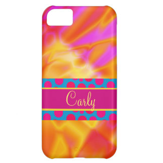 iPhone amarillo rosado femenino ardiente del extra