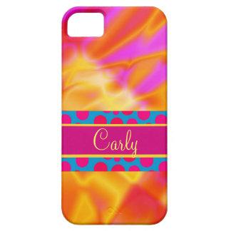 iPhone amarillo rosado femenino ardiente del extra iPhone 5 Fundas