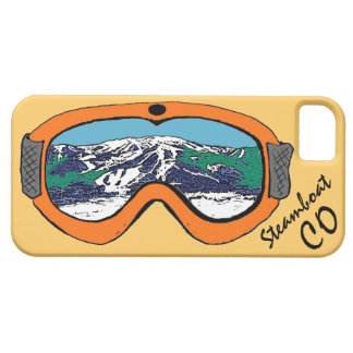 Iphone anaranjado 5 de las gafas de Steamboat iPhone 5 Fundas